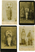 Western Expansion:Indian Artifacts, Lot of Four Photographs of Nez Perce Indian Cradleboards, ca.1890s. ... (Total: 4 Items)