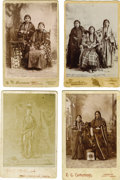 Western Expansion:Indian Artifacts, Lot of Four Photographs of Nez Perce/Umatilla Indians withCradleboards ca. 1890s. ... (Total: 4 Items)