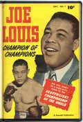 Golden Age (1938-1955):Non-Fiction, Joe Louis #1 and 2 Bound Volume (Fawcett, 1950) ....