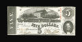 Confederate Notes:1863 Issues, T60 $5 1863. Cr.459 PF-21. An excellent example for type, with thetypical closely cut margins. Crisp Uncirculated....