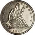 Proof Seated Half Dollars, 1847 50C PR64 NGC....