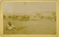 Western Expansion:Cowboy, Large Size Photograph of Apache Indians Arriving at San Carlos, Arizona Territory, 1893....