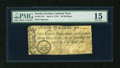 Colonial Notes:North Carolina, North Carolina April 4, 1748 40s PMG Choice Fine 15....