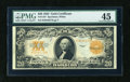 Large Size:Gold Certificates, Fr. 1187 $20 1922 Gold Certificate PMG Choice Extremely Fine 45....