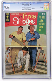 Three Stooges #43 File Copy (Gold Key, 1969) CGC NM+ 9.6 Off-white to white pages