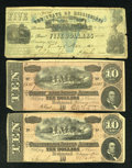 Confederate Notes:1864 Issues, T68 $10 1864. Two Examples. Fine.. ... (Total: 3 notes)