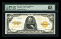 Large Size:Gold Certificates, Fr. 1200 $50 1922 Gold Certificate PMG Gem Uncirculated 65 EPQ....