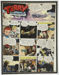 Original Comic Art:Miscellaneous, Terry and the Pirates Sunday Comic Strip Color Guide Production Art(Chicago Tribune, 1946).... (Total: 2 Items)