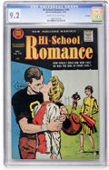 Silver Age (1956-1969):Romance, Hi-School Romance #70 File Copy (Harvey, 1957) CGC NM- 9.2 Cream tooff-white pages....