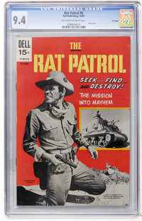 Rat Patrol #6 File Copy (Dell, 1969) CGC NM 9.4 Off-white to white pages