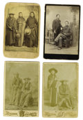 Western Expansion:Indian Artifacts, Lot of Four Cabinet Card Photographs Nez Perce/Umatilla Indians ca1880s-1890s.... (Total: 4 Items)