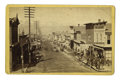 Western Expansion:Goldrush, Cabinet Card Photograph: Street Scene Leadville, Colorado, ca.1880s-1890s....