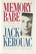 Books:First Editions, [Jack Kerouac]. Gerald Nicosia. Memory Babe: A CriticalBiography of Jack Kerouac....
