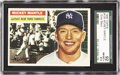 Baseball Cards:Singles (1950-1959), 1956 Topps Mickey Mantle #135 SGC 92 NM/MT+ 8.5 . When one talksabout the all-time greats, Mickey Mantle is right on the t...