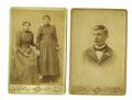 Photography:Cabinet Photos, Lot of Two Photographs of Native American Indians, Carlisle,Pennsylvania, ca. 1890s.... (Total: 2 Items)