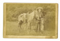 "Western Expansion:Cowboy, Cabinet Card Photograph of Cowboy Scout ""Wild Burt,"" ca. 1880s...."