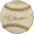 Autographs:Baseballs, Gold Glove Award Signed Baseball. The 1992 Rawlings Gold GloveAward Dinner and Presentation had several baseball luminarie...