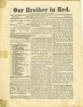 "Miscellaneous:Ephemera, Hope for the Indians ""Our Brother in Red"" Indian Territory 1884 -..."