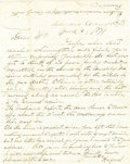 Military & Patriotic:Indian Wars, Indian Wars Era Cheyenne River Agency Autograph Letter Signed, 1871. ...