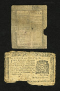 Colonial Notes:Delaware, Delaware January 1, 1776 18d Good. New York August 13, 1776 $1/8AG.. ... (Total: 2 notes)