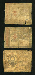 Colonial Notes:Continental Congress Issues, Three Pieces of Continental Currency.... (Total: 3 notes)