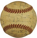 Autographs:Baseballs, 1944 Pittsburgh Pirates Team Signed Baseball. The 1944 PittsburghPirates finished with a record of 90 wins and 63 losses. ...