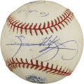Autographs:Baseballs, Sammy Sosa Signed and Game-Used baseball. The offered OML (Selig)baseball, used in a game April 4, 2003, has been signed b...