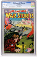 Golden Age (1938-1955):War, Star Spangled War Stories #28 (DC, 1954) CGC VF- 7.5 Off-white towhite pages....