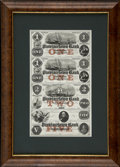 Obsoletes By State:Massachusetts, Provincetown, MA- Provincetown Bank $1-$1-$2-$5 Dec. 1, 1854G2a-G2a-G4a-G8a Uncut Proof Sheet. ...