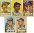 Autographs:Sports Cards, 1952 Topps Baseball Signed Cards Group Lot of 45. A group offorty-five 1952 Topps cards signed by the players. Highlighted...