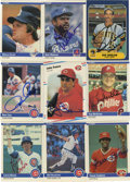 Autographs:Sports Cards, 1984-88 Fleer Baseball Signed Cards Group Lot of Over 110. A lot of 115 1984-1988 Fleer cards signed by the players. Highlig...