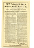 Transportation:Railroad, Northern Pacific Railroad Prospectus Broadside 1880. ...