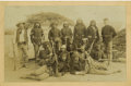 Military & Patriotic:Indian Wars, Imperial Size Cabinet Card Photograph Armed Apache Scouts Arizona Territory ca 1880s-1890s. ...