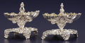 Silver Holloware, French:Holloware, A PAIR OF FRENCH SILVER AND SILVER GILT DOUBLE SALTS. Unidentifiedmaker, Paris, France, circa 1860. Marks: (Minerva head),... (Total:2 Items)
