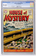 Golden Age (1938-1955):Horror, House of Mystery #39 (DC, 1955) CGC VF/NM 9.0 Cream to off-whitepages....