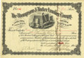 Miscellaneous:Ephemera, The Thompson & Tucker Lumber Company Stock Certificate 1904....
