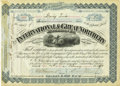Transportation:Railroad, International & Great Northern Railroad Company StockCertificate 1898....