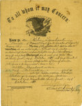 """Military & Patriotic:Indian Wars, Indian Wars Document Signed for Indian Scout """"Blue Tomahawk""""Discharge from the U. S. Army, 1878. ..."""