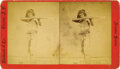 Photography:Stereo Cards, Large Format Stereoview Apache Indian with Long Rifle Tucson, Arizona Territory ca 1870s. ...