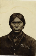 """Military & Patriotic:Indian Wars, Two Imperial Size Photographs """"Apache Indian Scouts & ApacheKid"""" ca 1880s-1890s. ... (Total: 2 Items)"""