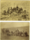 Western Expansion:Cowboy, Two Imperial Size Photographs of Cowboys on the Range, ca.1880s-1890s. ... (Total: 2 Items)