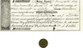 Military & Patriotic:Indian Wars, W. A. Carter Token & Promise to Pay Voucher Fort Bridger, Utah Territory 1860.... (Total: 2 Items)