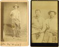 """Western Expansion:Cowboy, Lot of two CDVs of """"Whip,"""" Stagecoach Driver, ca. 1870s. ...(Total: 2 Items)"""