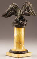 Decorative Arts, French:Other , A FRENCH BRONZE FIGURE OF AN EAGLE. First Half 19th Century. 14inches (35.6 cm) high. ...