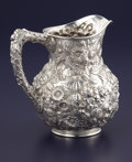 Silver & Vertu:Hollowware, AN AMERICAN SILVER WATER PITCHER. S. Kirk & Son, Baltimore, Maryland, circa 1925-1932. Marks: S. KIRK & SON INC., STERLING...