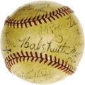 Autographs:Baseballs, 1938 Brooklyn Dodgers Team Signed Baseball with Ruth. Afterrealizing that the Boston Braves would never hand the manageria...