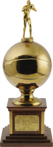 """Basketball Collectibles:Others, 1951 Marques Haynes MVP Trophy - """"Second Place Award"""" from theMarques Haynes Collection. In 1951, after the success of the..."""