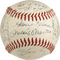 Autographs:Baseballs, 1958 American & National League All-Star Team Signed Baseball. While most team signed baseballs from this midseason event a...