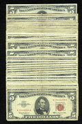 Small Size:Legal Tender Notes, Thirty-Five $5 Legal Tender Notes. Very Good-Fine or Better.. ... (Total: 35 notes)