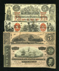 Confederate Notes:Group Lots, Confederate Counterfeit, Ad Notes, Etc.. ... (Total: 4 notes)